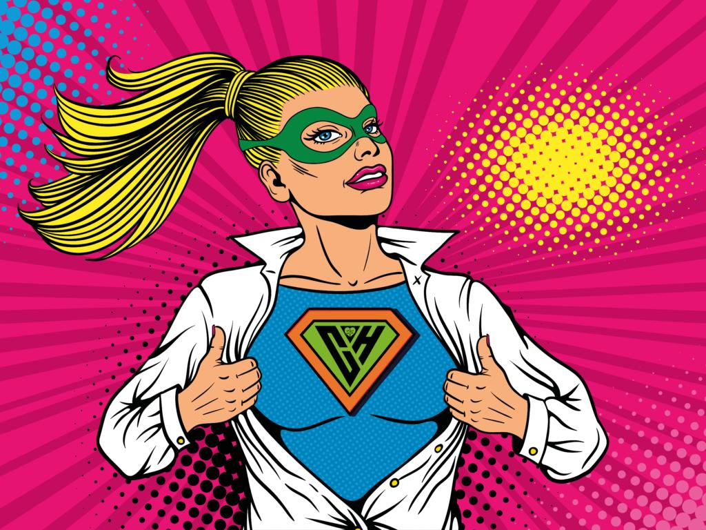Hospice Herald Female Superhero 2 NO TEXT
