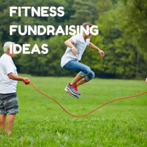 Fundraising fitness ideas button