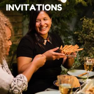 Invitations button