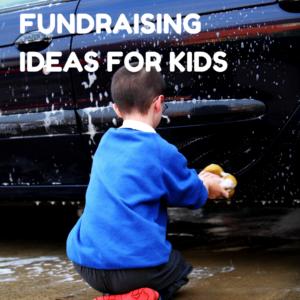 Kids fundraising ideas button